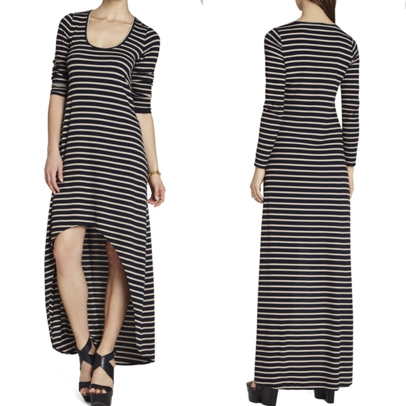20cdb36fa757 BCBGMaxAzria Dresses | Bcbg Arianna Striped Highlow Dress Nwt | Poshmark
